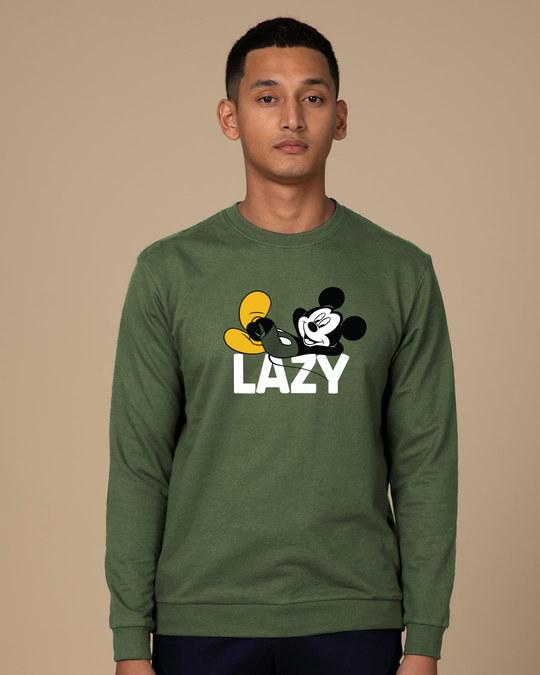 Shop Lazy Mickey Fleece Light Sweatshirt (DL)-Front