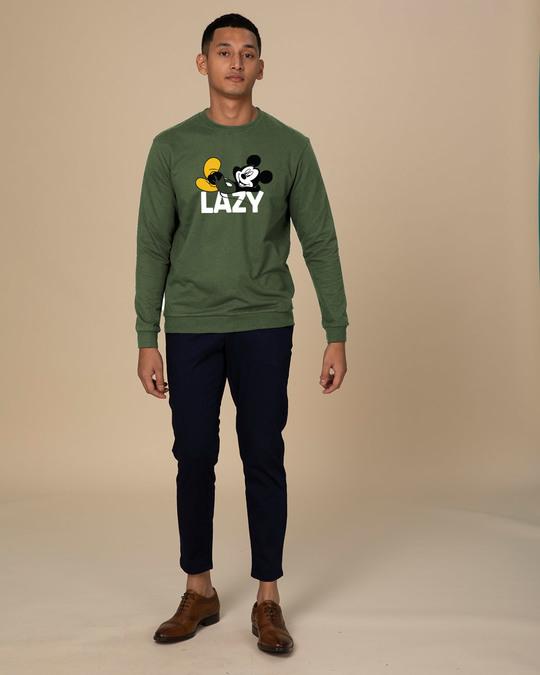 Shop Lazy Mickey Fleece Light Sweatshirt (DL)-Design