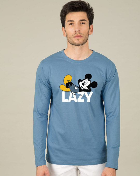 Shop Lazy Mickey Full Sleeve T-Shirt (DL)-Front