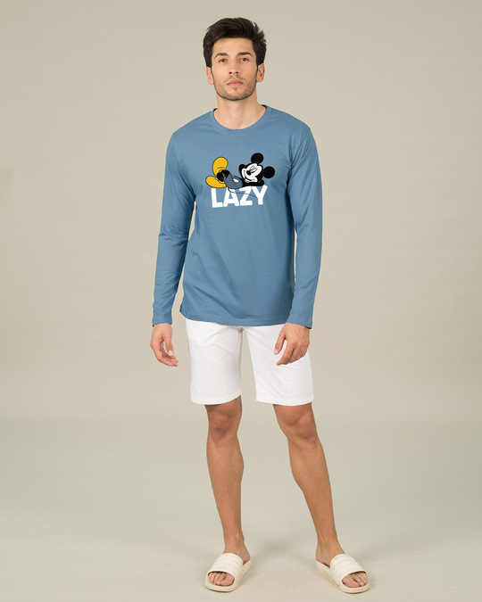 Shop Lazy Mickey Full Sleeve T-Shirt (DL)-Full