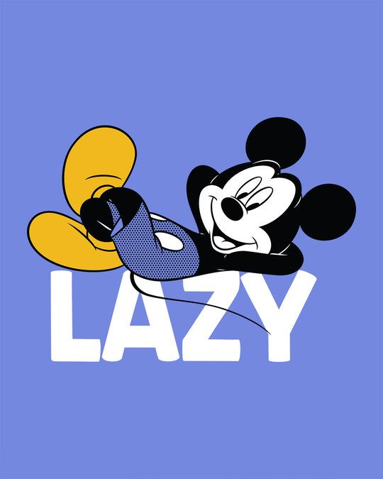 Shop Lazy Mickey Full Sleeve T-Shirt (DL)