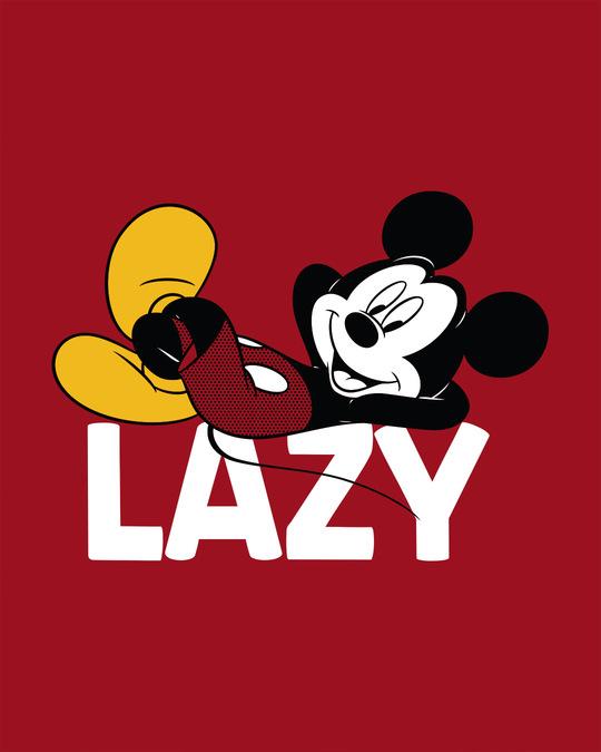 Shop Lazy Mickey Half Sleeve T-Shirt
