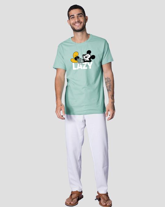 Shop Lazy Mickey Half Sleeve T-Shirt (DL)-Design