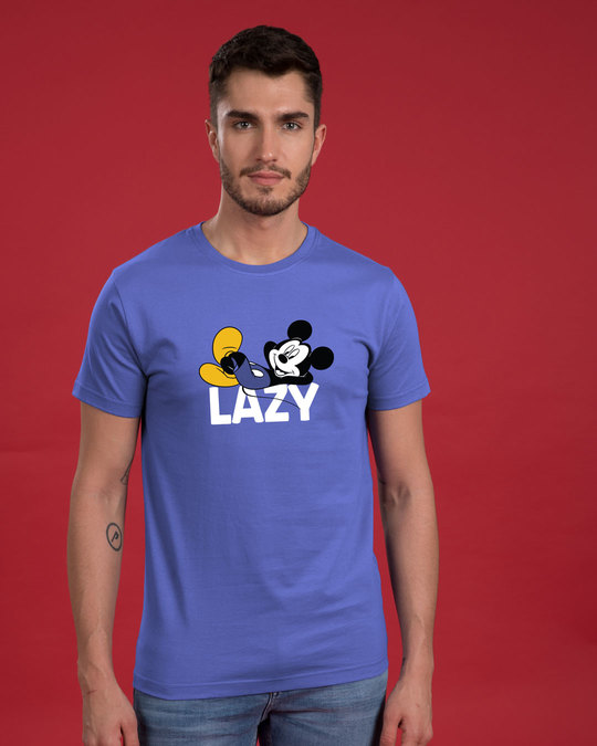 Shop Lazy Mickey Half Sleeve T-Shirt (DL)-Back