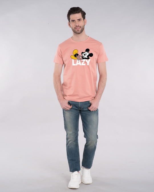 Shop Lazy Mickey Half Sleeve T-Shirt (DL)-Design