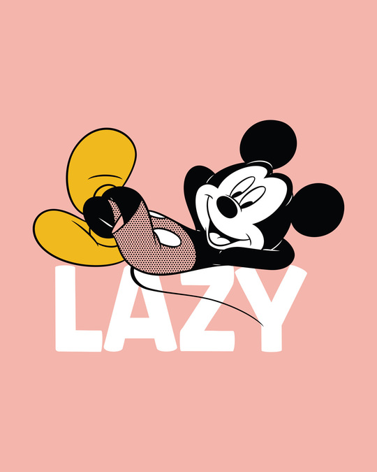 Shop Lazy Mickey Half Sleeve T-Shirt (DL)-Full