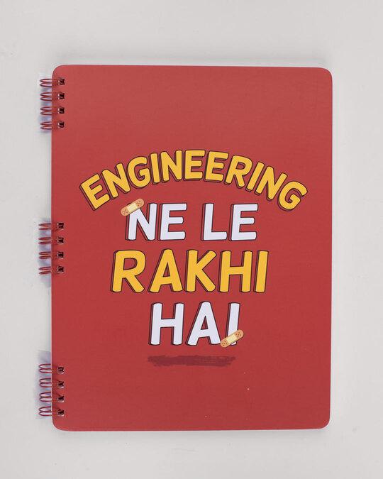 Shop Le Rakhi Hain Spiral Notebook-Front