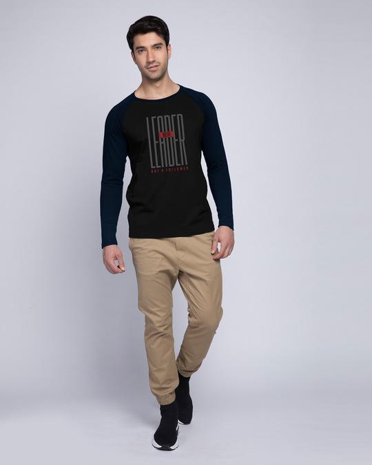 Shop Leader Full Sleeve Raglan T-Shirt Navy Blue- Black-Full