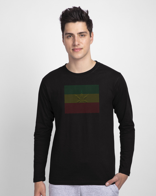 Shop Leaf Line Full Sleeve T-Shirt-Front