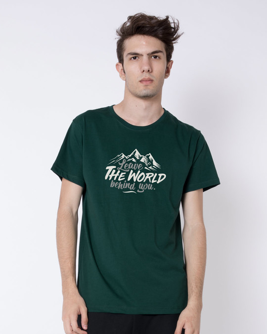 Shop Leave The World Half Sleeve T-Shirt-Back