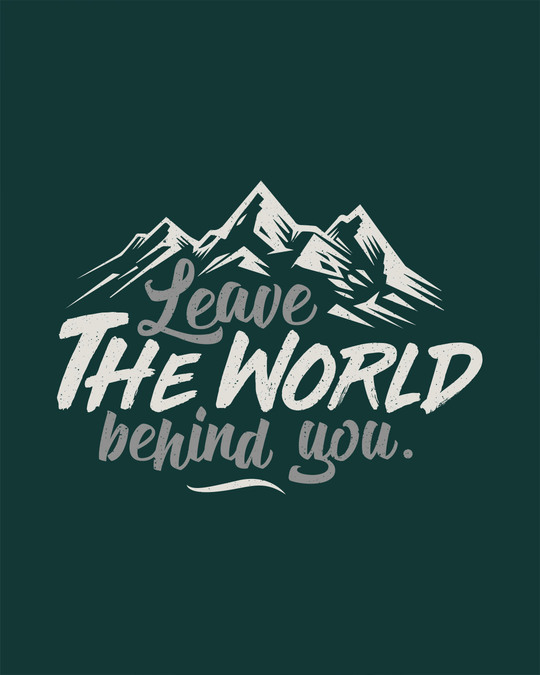Shop Leave The World Half Sleeve T-Shirt