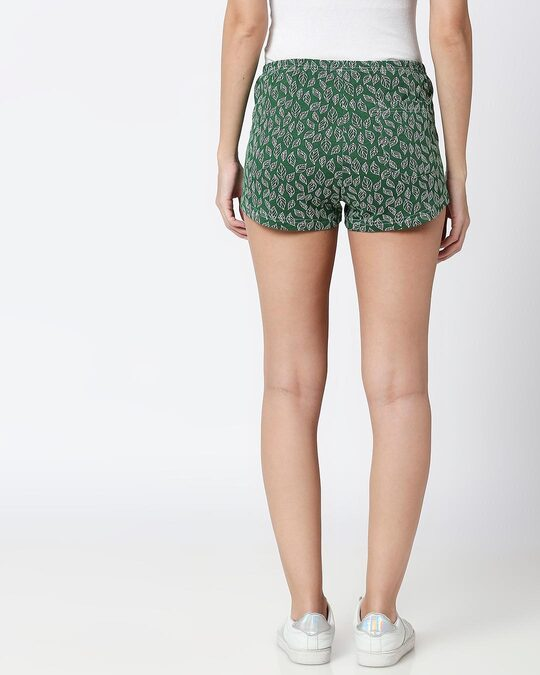 Shop Leaves Pattern Green Knitted Boxers-Design