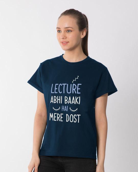 Shop Lecture Abhi Baaki Hai Boyfriend T-Shirt-Back