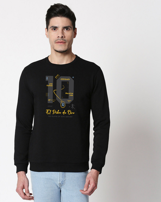 Shop Legend 10 ARG Fleece Sweater Black-Front