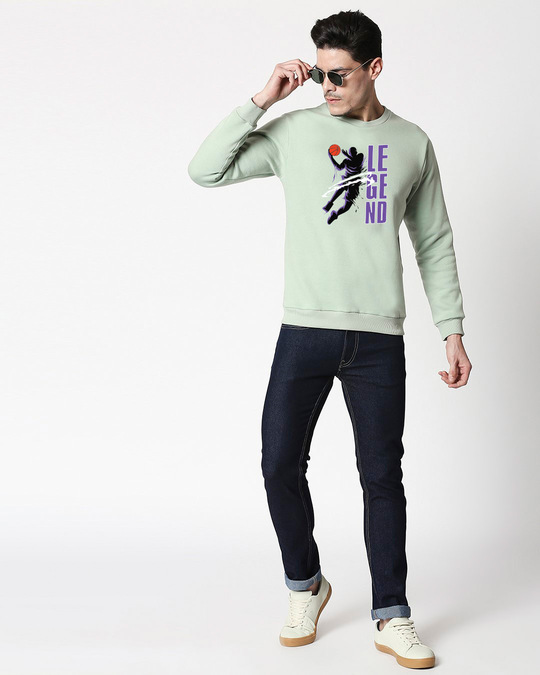 Shop Legend 24 Fleece Sweater Sea Green New