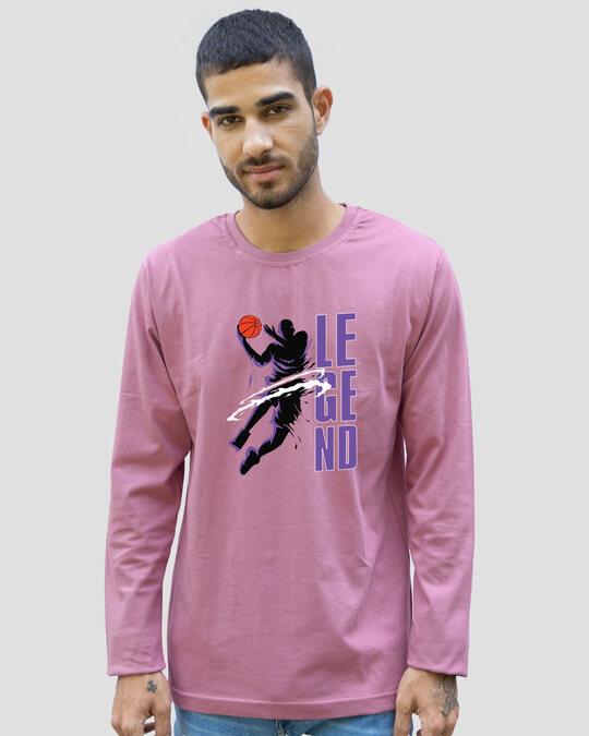 Shop Legend 24 Full Sleeve T-Shirt Frosty Pink-Back
