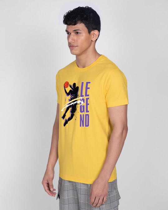 Shop Legend 24 Half Sleeve T-Shirt Happy Yellow-Design