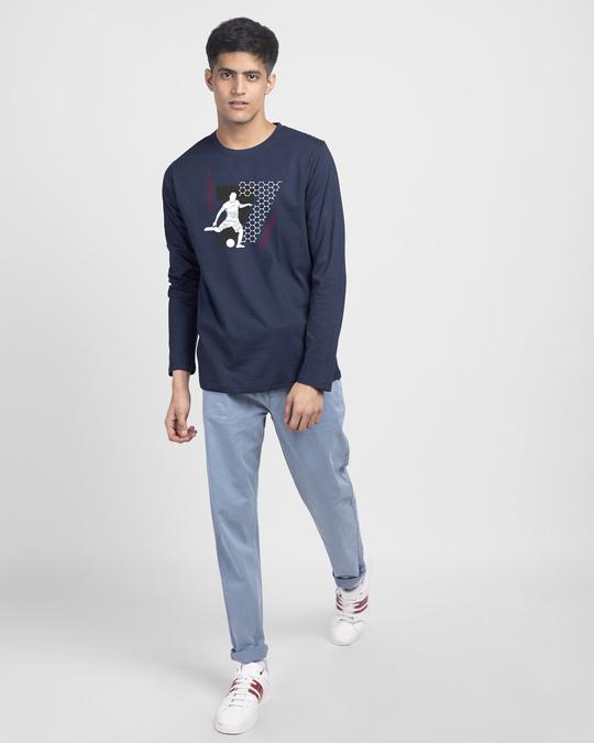Shop Legend 7 Net Full Sleeve T-Shirt Galaxy Blue-Design