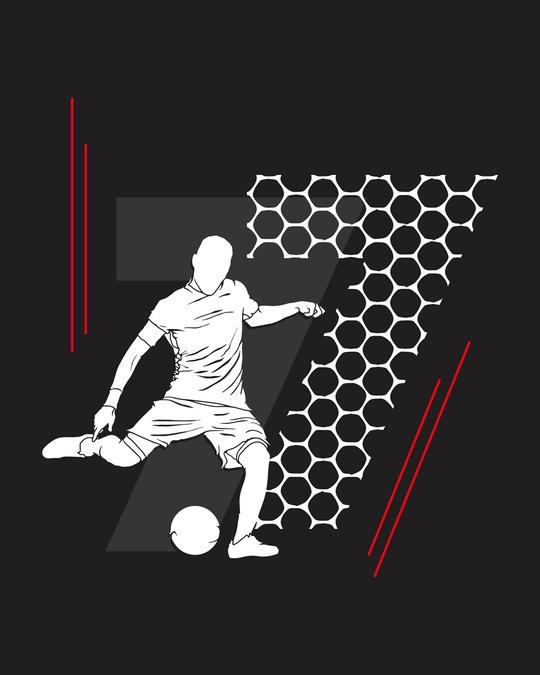 Shop Legend 7 Net Half Sleeve T-Shirt Black-Full