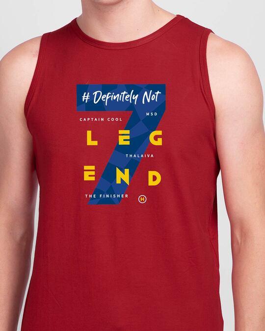 Shop Legend 7 Round Neck Vest Bold Red-Front