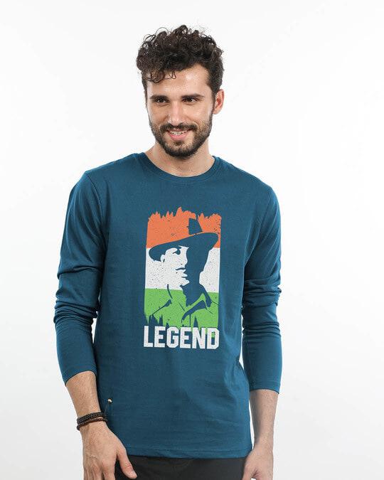Shop Legend Bhagat Singh Full Sleeve T-Shirt-Front