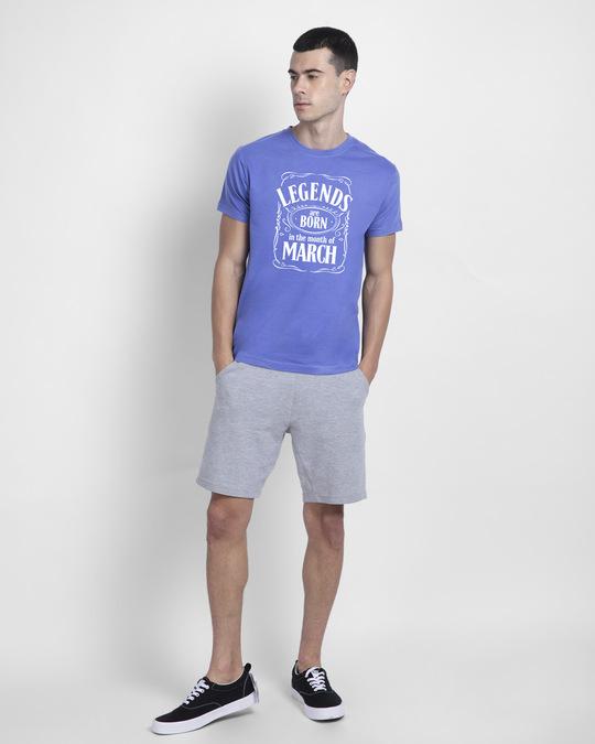 Shop Legend Daniels March Half Sleeve T-Shirt-Blue Haze-Design