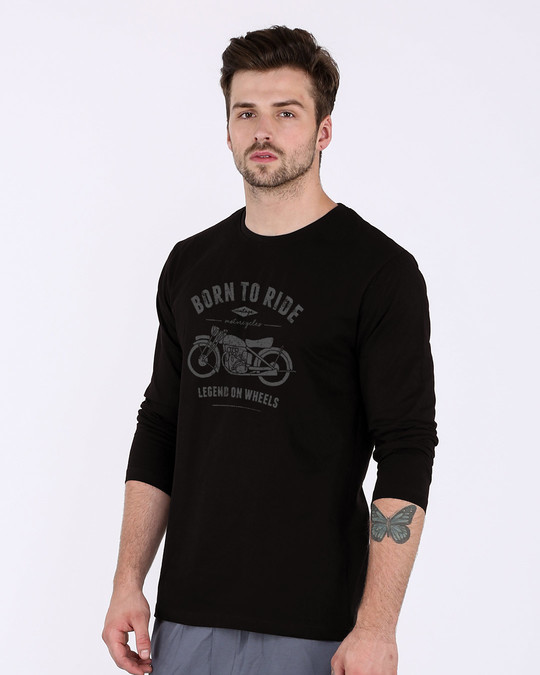 Shop Legend On Wheels Full Sleeve T-Shirt-Back