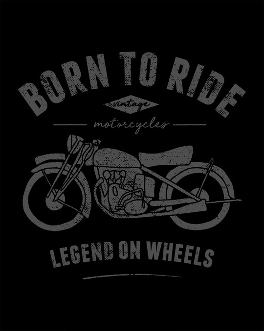 Shop Legend On Wheels Full Sleeve T-Shirt