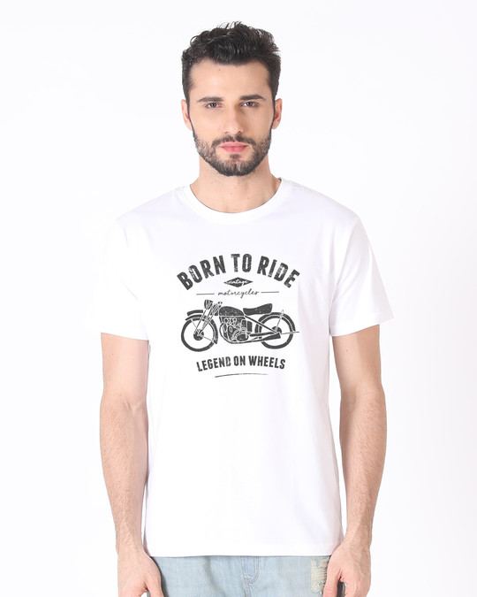 Shop Legend On Wheels Half Sleeve T-Shirt-Back