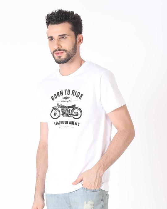 Shop Legend On Wheels Half Sleeve T-Shirt-Full