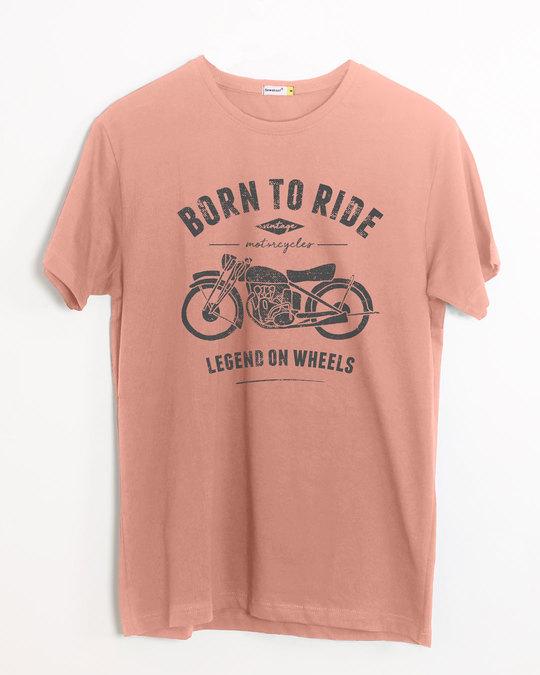 Shop Legend On Wheels Half Sleeve T-Shirt-Front