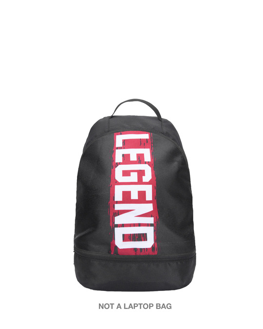 Shop Legend Red Printed Small Backpack-Front