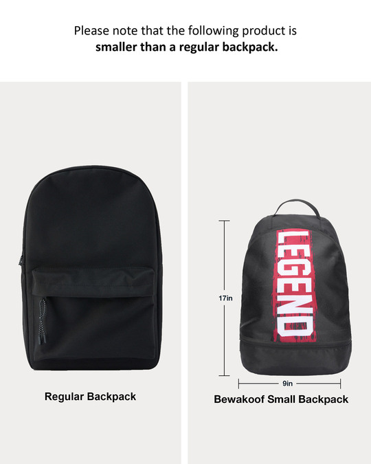 Shop Legend Red Printed Small Backpack-Full