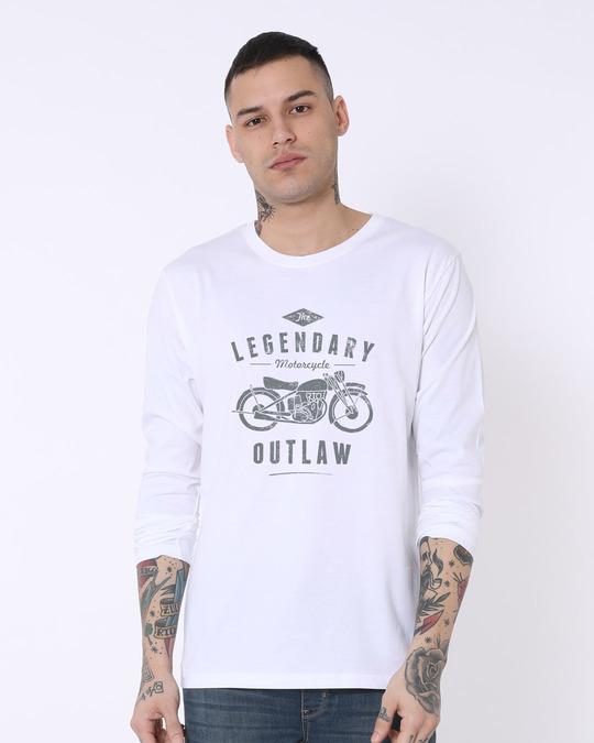 Shop Legendary Outlaw Full Sleeve T-Shirt-Front