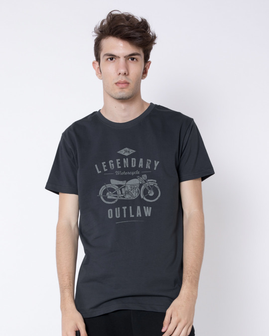 Shop Legendary Outlaw Half Sleeve T-Shirt-Back