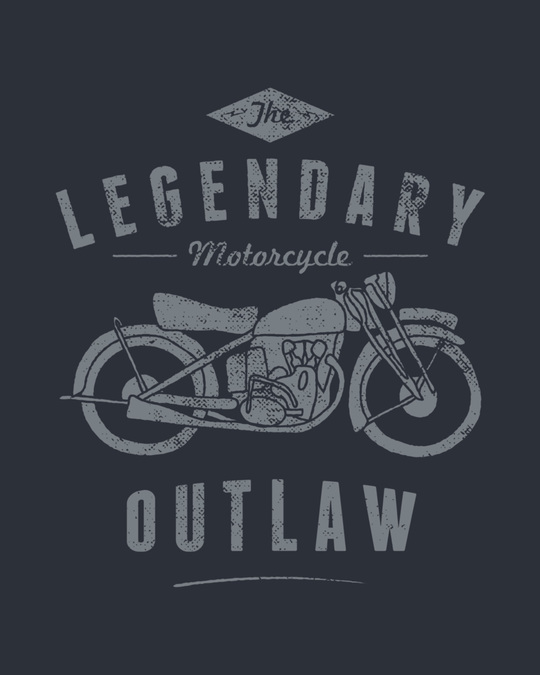 Shop Legendary Outlaw Half Sleeve T-Shirt