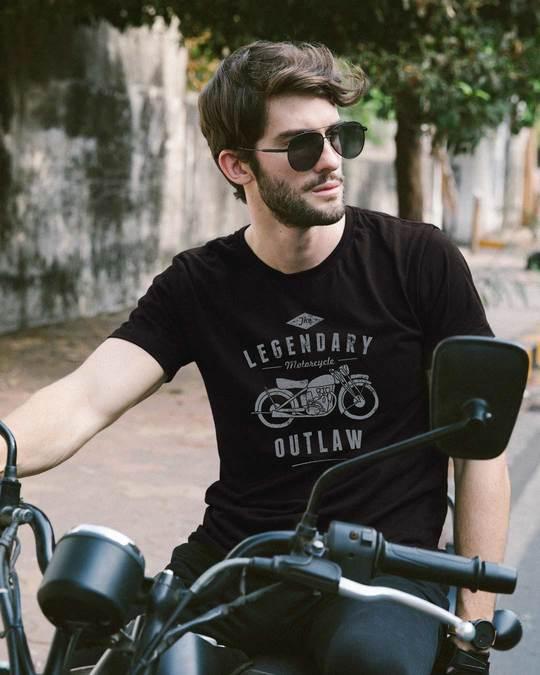 Shop Legendary Outlaw Half Sleeve T-Shirt-Front