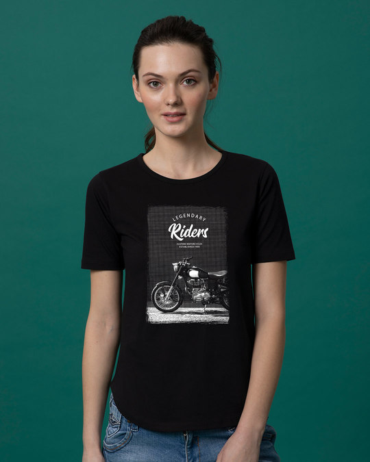 Shop Legendary Riders Basic Round Hem T-Shirt-Front