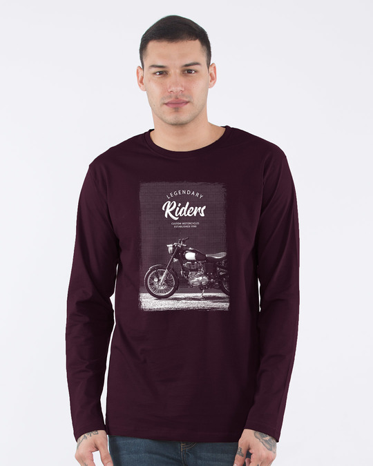 Shop Legendary Riders Full Sleeve T-Shirt-Front