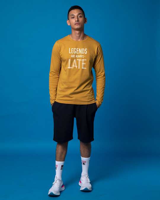 Shop Legends Are Late Full Sleeve T-Shirt