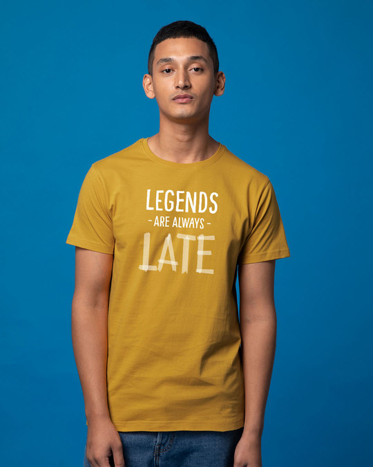 Shop Legends Are Late Half Sleeve T-Shirt-Back