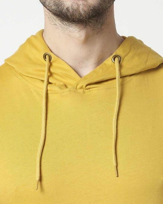 Shop Lemon Curry Half Sleeve Hoodie T-Shirt
