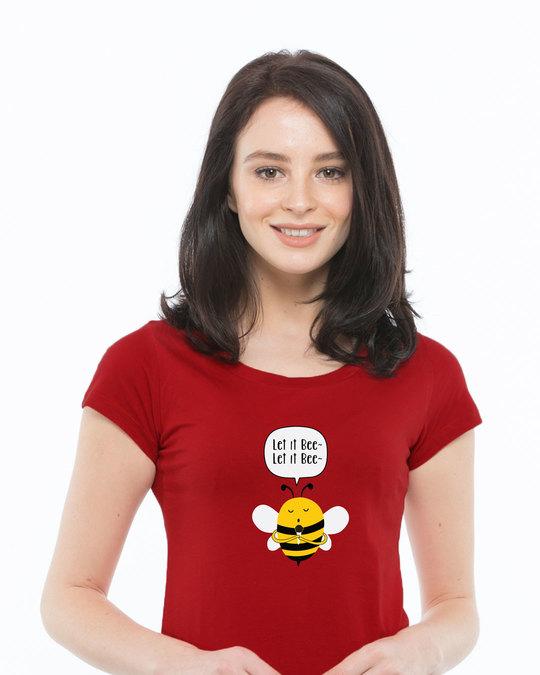 Shop Let It Beee Half Sleeve T-Shirt-Front