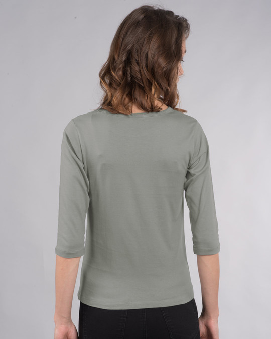 Shop Let It Beee Round Neck 3/4th Sleeve T-Shirt-Back