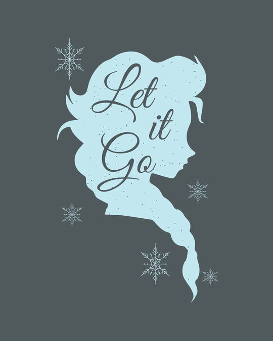 Shop Let It Go Boyfriend T-Shirt (FROZEN)