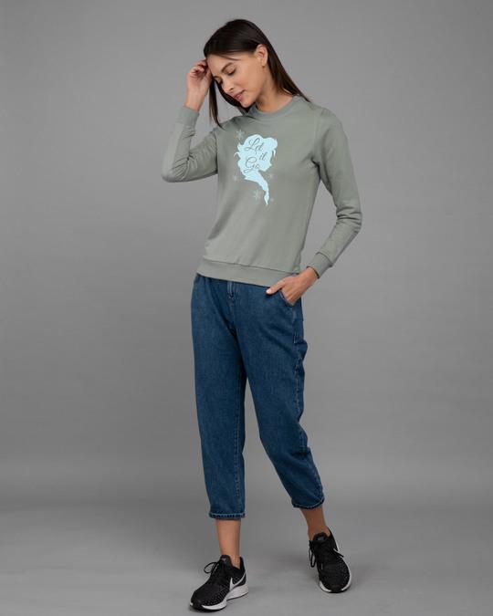Shop Let It Go Fleece Light Sweatshirt (FROZEN)-Design