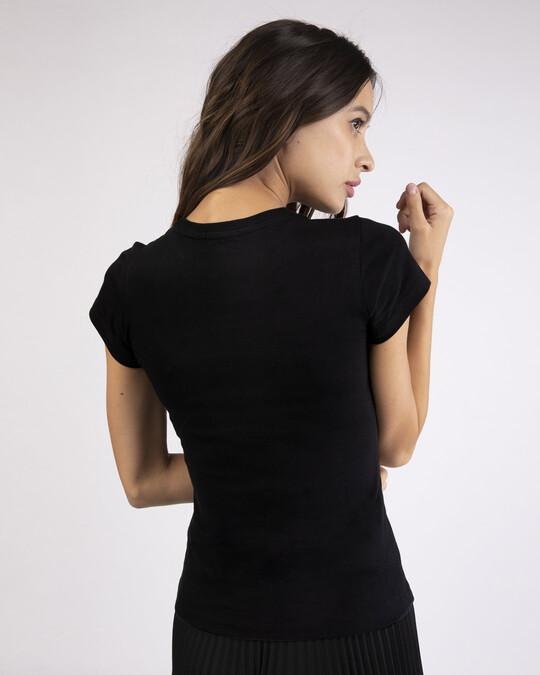 Shop Let It Go Rose Glow In Dark Half Sleeve T-Shirt -Back