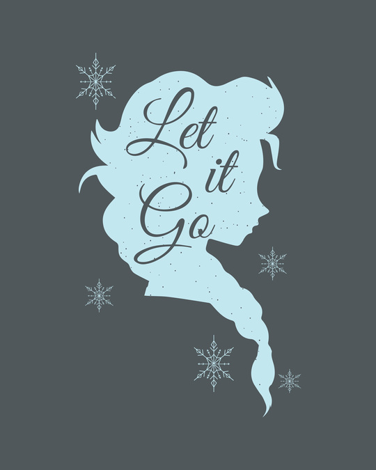Shop Let It Go Scoop Neck Full Sleeve T-Shirt (FROZEN)-Full