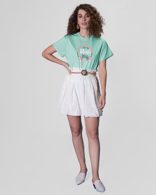 Shop Let It Play Headphones Boyfriend T-Shirt-Full
