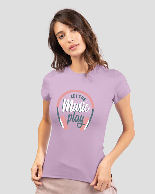 Shop Let It Play Headphones Half Sleeve T-Shirt-Back